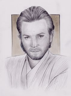 Ewan McGregor, Obi Wan Kenobi, Pencil on paper, inches Ewan Mcgregor, Obi Wan, Pencil, Sketch, Star Wars, Drawings, Paper, Artwork, Sketch Drawing