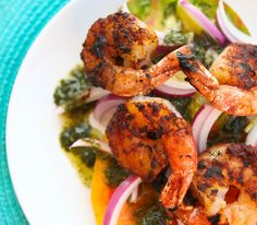 Gojee - BBQ Spiced Shrimp with Tomato Salad by Pip and Ebby