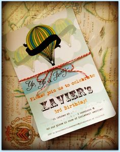 Beautiful Hot Air Balloon Invitation #hotairballoon #invitation