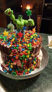 Hulk Birthday Parties, Avengers Birthday Cakes, 4th Birthday Cakes, Superhero Birthday Party, Birthday Celebration, Cake Decorating Piping, Cake Decorating Videos, Flash Cake, Hulk Cakes