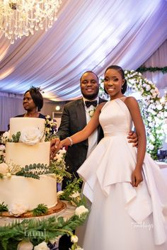 Award winning actress Lala Akindoju and her forever love Gbubemi Fregene aka Chef Fregz tied the knot in a beautiful outdoor ceremony. Fancy Wedding Dresses, Bridal Dresses, Wedding Gowns, Reception Gown, Wedding Ceremony, Lace Gown Styles, Event Dresses, Marie, Brides