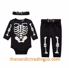 1st Halloween Boo-tique Skeleton Bones Costume Candy Corn Shows Visible Inside Belly Baby Girl Boy Unisex Toddler 12 -18 mo. Clothing & Accessories