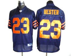 e9ea3e7cf6c Bears #23 Devin Hester Blue/Orange 1940s Throwback Stitched NFL Jersey