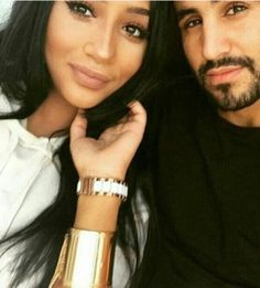 Riyad Mahrez with his wife Rita Johal...