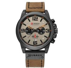 Leather Strap Quartz Men Watches Cool Watches, Watches For Men, Men's Watches, Personalized Gifts For Her, Mens Sport Watches, Casual Date, Mechanical Watch, Beautiful Watches, Watch Brands