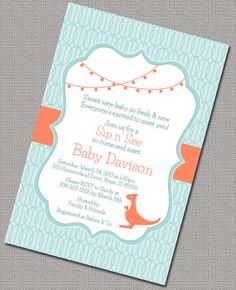 Neutral Printable Baby Shower Invitation
