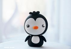 Kawaii Penguin Figurine / Cute Baby Penguin / Collectible Toy, Party Cake Topper by Naboko Studio