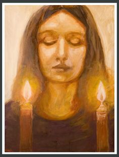 Lighting Shabbat candles #Chabad