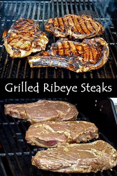Tender and flavorful Grilled Ribeye Steaks in homemade marinade with red wine, Worcestershire sauce, olive oil, pepper, and mustard.| Food to gladden the heart at RotiNRice.com