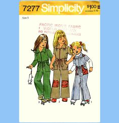 761 Simplicity 7277 Childs Front Zipper Jumpsuit by ladydiamond46