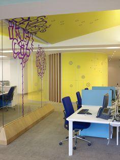Zain's Colorful Bahrain Headquarters Offices