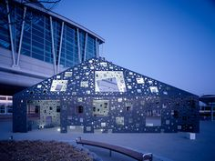 Kumiko Inui, pavillon in Kumamoto Japanese Architecture, Facade Architecture, Building Skin, Temporary Structures, Pavilion, San Francisco Skyline, Airplane View, Modern Design, Landscape