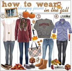 """""""66. how to wear skinny jeans in the fall , ♥"""" by theamazingtipgirls-xoxo ❤ liked on Polyvore"""