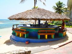 Beach bar in Montego Bay Jamaica. Discover more of Jamaica on www.click2xscape.com
