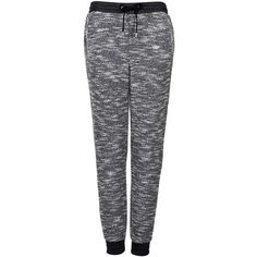 TOPSHOP Luxe Marl Mix Joggers ($70) ❤ liked on Polyvore featuring activewear, activewear pants, pants, bottoms, jeans, sweatpants, pajamas, grey, sweat pants and jogger sweat pants