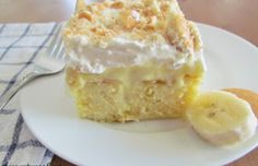 Banana Poke Cake (By:-)  My Taste)