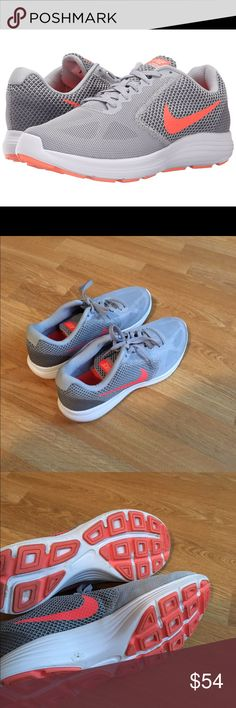 3830c9f82828 Gray and Orange Nike Tennis Shoes Gray and Orange Nike Tennis Shoes. Super  comfortable.