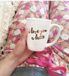 cute 'I love you a latte' mug - 20% off with code:  MEMORIAL