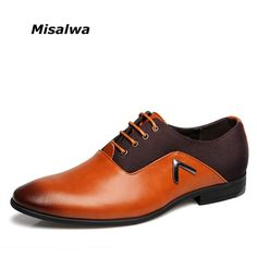 2017 Men Formal Leather Shoes Quality Brand Mens Dress Oxfords Flats Size 6-12