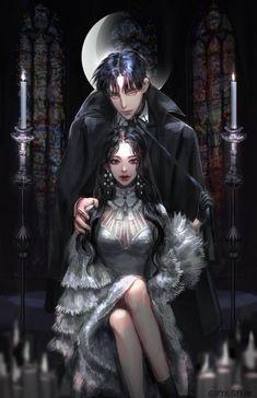 Hotel de Luna but prettier Anime Couples Drawings, Anime Couples Manga, Cute Anime Couples, Luna Anime, Chica Anime Manga, Evil Anime, Beautiful Fantasy Art, Beautiful Anime Girl, Romantic Manga