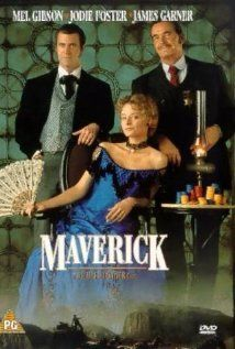 Maverick with Mel Gibson, Jodie Foster and James Garner
