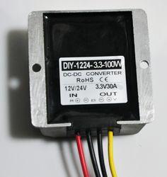 Converter DC 12V 24V 36V (6-40V)Step Down 3.3V 30A 100W DC DC Buck Module Car Power Supply Adapter Voltage Regulator Waterproof