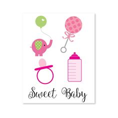 Printable Baby Shower Girl Clipart for Baby Shower invitations, thank you cards, decor and more! Baby Girl Shower Themes, Girl Baby Shower Decorations, Baby Shower Invites For Girl, Baby Shower Cards, Baby Shower Favors, Baby Shower Gifts, Baby Cards, Shower Party, Printable Baby Shower Invitations