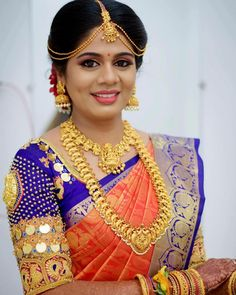 Want to check out best saree colors for weddings? Here are 17 saree colors that are trending this year. Bridal Blouse Designs, Saree Blouse Designs, Blouse Patterns, Pattu Sarees Wedding, Bridal Sarees, Silk Sarees, Saree Color Combinations, South Indian Bridal Jewellery, Wedding Saree Collection
