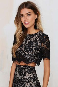 The Jetset Diaries Lace of Base Crop Top - Sets | Cropped | Clothes | Tops
