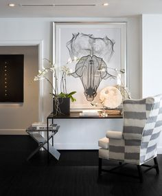 Miami Residence  Hallway  Contemporary by Michael Dawkins Home