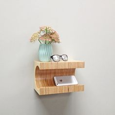 Mini Floating Nightstand - A wall mounted nightstand, inspired by the movement…