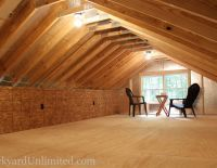 Interior View Of 24 X24 Garage With 7 12 Roof Pitch With Attic Truss Attic Truss Roof Truss Design Roof Styles