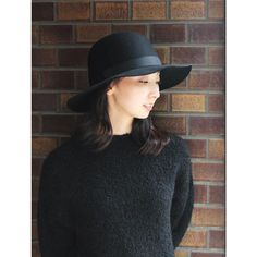 YMC (women) x CHRISTY'S - Wide Brim HAT (black) / ワイエムシー & クリスティーズ・フェルトハット