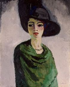 Woman with a black hat (1908)  by Kees van Dongen (1877-1968)