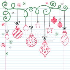 Sketchy Doodle Christmas Ornament - simple doodles to add to those special xmas cards.Hand-Drawn Sketchy Doodle Christmas Ornament - simple doodles to add to those special xmas cards. Christmas Doodles, Christmas Art, Christmas Countdown, Christmas Tree Ornaments, Christmas Decorations, Christmas Journal, How To Draw Christmas Tree, Simple Christmas, Painted Windows For Christmas