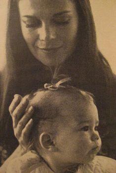 Natalie Wood with baby daughter, Natasha