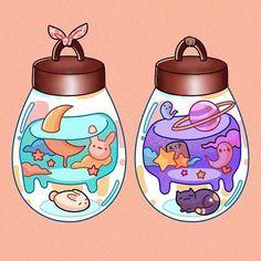Cute Food Drawings, Cute Animal Drawings Kawaii, Cartoon Drawings, Arte Do Kawaii, Kawaii Art, Cute Pastel Wallpaper, Kawaii Wallpaper, Stickers Kawaii, Cute Stickers