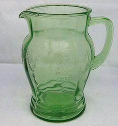 Anchor Hocking Green Depression Glass Pitcher Cameo or Dancing Ballerina http://www.rubylane.com/item/506482-100-5659/Anchor-Hocking-Green-Depression-Glass#.T17Zy9Tdfw4.twitter via @rubylanecom