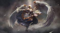 #angel #armor #fly #sword #weapons #wings