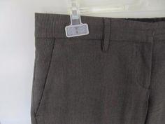 bruine broek krijtstreep vanilia -