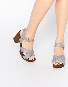 Sandalias de tacón de cuero TILLY de ASOS