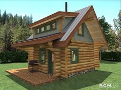 458 sq ft - Erics Cabin RCM CAD DESIGN DRAFTING LTD is an architectural design firm primarily specializing in log and timber construction projects.