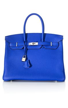 Hermes Electric Blue Birkin - Drooling over this. I just keep telling myself that My kids DO need a college education more than I need a Birkin!
