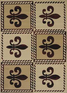 """5x8 (5'3"""" x 7'2"""") Fleur De Lys Fleur De Lis European Orleans Area Rug #RugIsland…"""