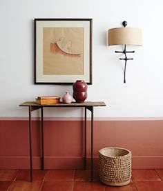 Cozy wall colors Ideas inspired by the fall - Decoration For Home Half Painted Walls, Half Walls, Interior Paint, Interior Design, Room Interior, Terracotta Floor, Terracotta Paint Color, Color Terracota, Trending Paint Colors