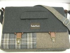 Messenger Bag Laptop Sleeve tote bag Trunk Latch by SewMuchStyle