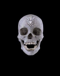 A diamond encrusted human skull. Damien Hirst: For the Love of God, 2007. The title came from an expression frequently used by his mother. KA