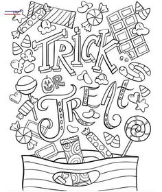 Trick or Treat on crayola.com - #halloweencoloringpages Sugar Skull Halloween, Halloween Town, Halloween Trick Or Treat, Halloween Games, Halloween Decorations, Halloween Coloring Pages Printable, Halloween Coloring Sheets, Coloring Sheets For Kids, Free Printable Coloring Pages