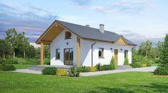 DOM.PL™ - Projekt domu DP miłków mały 3 CE - DOM K1-07 - gotowy projekt domu