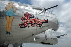 Nose Art B-17 Sentimental Journey